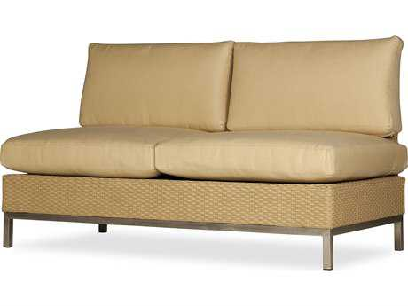 Lloyd Flanders Elements Steel Wicker Loveseat
