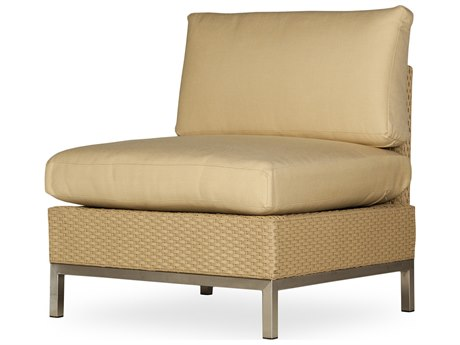 Lloyd Flanders Elements Steel Wicker Lounge Chair