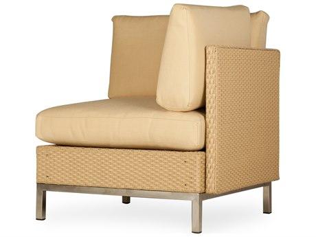 Lloyd Flanders Elements Steel Wicker Corner Lounge Chair PatioLiving