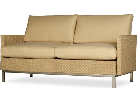 Lloyd Flanders Elements Steel Wicker Loveseat PatioLiving