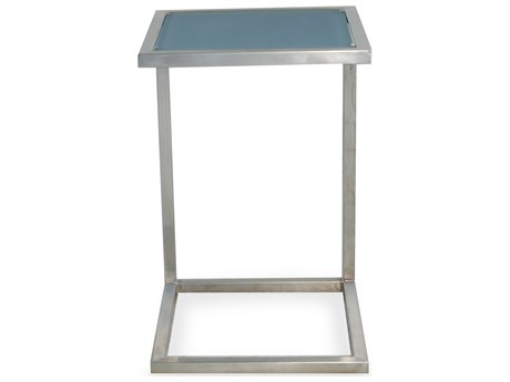 Lloyd Flanders Elements Steel 17''W x 15''D Rectangular End Table PatioLiving