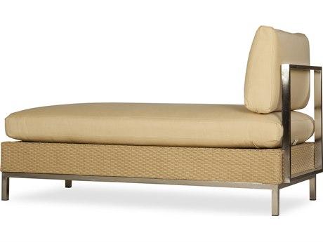 Lloyd Flanders Elements Steel Wicker Chaise Lounge PatioLiving