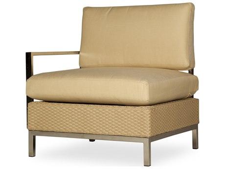 Lloyd Flanders Elements Steel Wicker Right Arm Lounge Chair