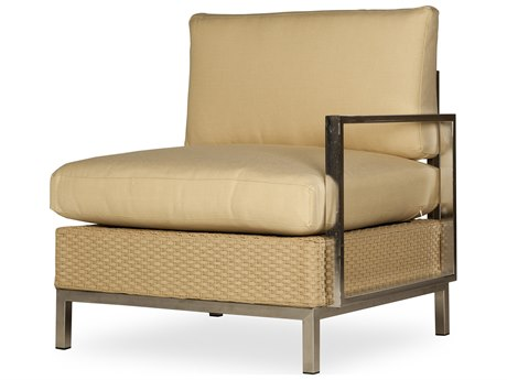 Lloyd Flanders Elements Steel Wicker Left Arm Lounge Chair