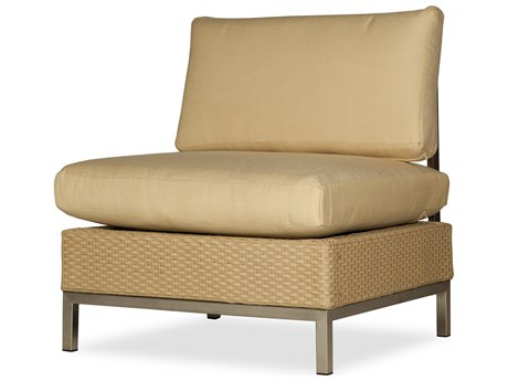 Lloyd Flanders Elements Steel Wicker Cushion Side Lounge Chair