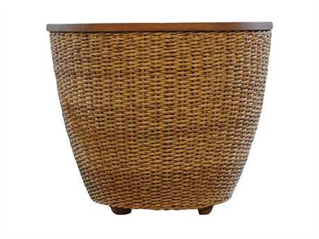 Lloyd Flanders Tobago Wicker 23.5'' Round End Table