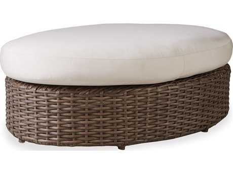 Lloyd Flanders Largo Wicker Oval Ottoman