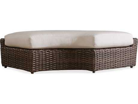 Lloyd Flanders Largo Wicker Right Curved Bench