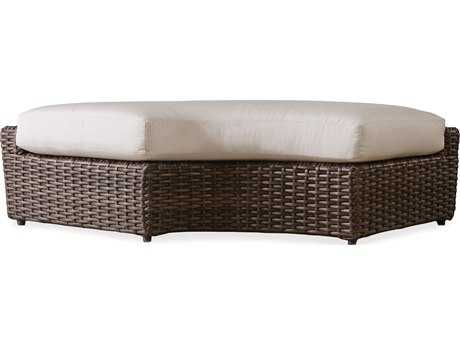 Lloyd Flanders Largo Wicker Left Curved Bench