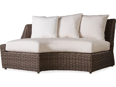 Lloyd Flanders Largo Wicker Right Curved Sectional