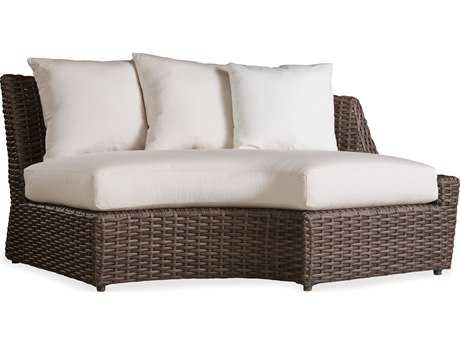 Lloyd Flanders Largo Wicker Left Curved Sectional