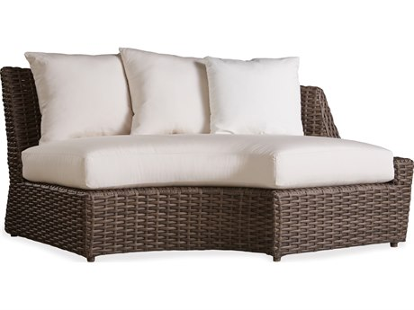 Lloyd Flanders Largo Wicker Curved Left Arm Sofa PatioLiving