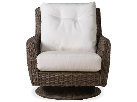 Lloyd Flanders Largo Wicker High Back Swivel Rocker