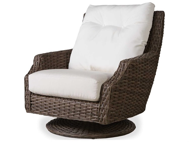 Lloyd Flanders Largo Wicker High Back Swivel Rocker Lf241080