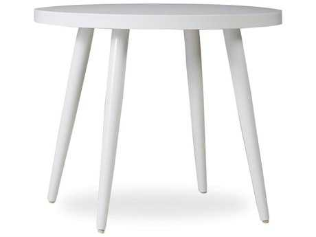 Lloyd Flanders South Beach Aluminum 24'' Round End Table in Matte White