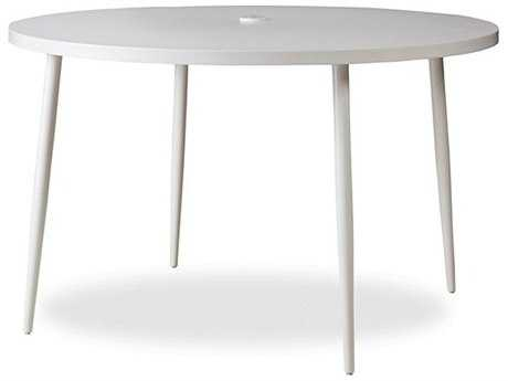 Lloyd Flanders South Beach Aluminum 48'' Round Dining Table in Matte White