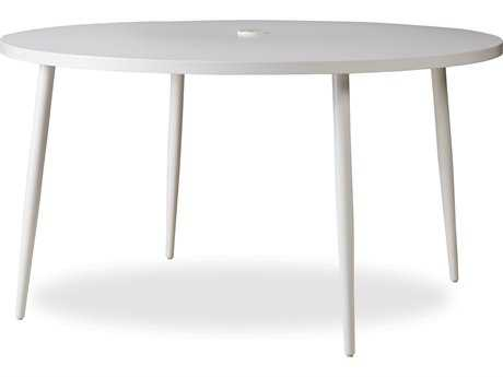 Lloyd Flanders South Beach Aluminum 54 Dining Table in Matte White