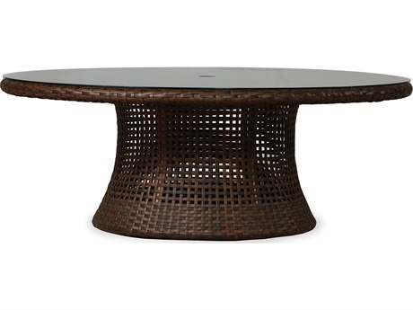Lloyd Flanders Havana Wicker 48 Round Conversation Table with lay-on glass LF262041
