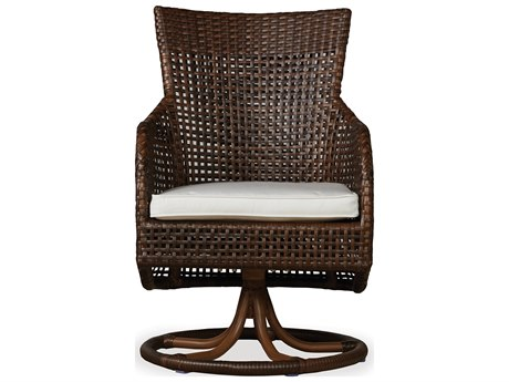 Lloyd Flanders Havana Wicker Swivel Dining Chair