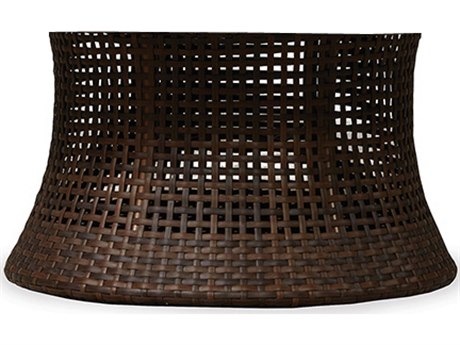 Lloyd Flanders Havana Wicker 48 Round Chat Umbrella Table Base