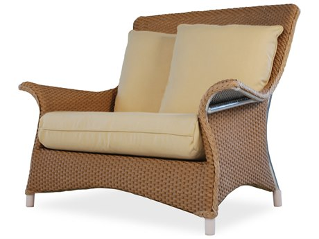 Lloyd Flanders Mandalay Wicker Lounge Chair and Half