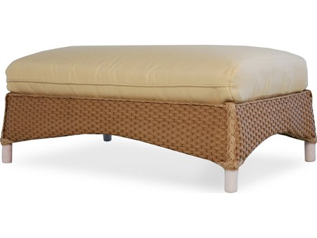 Lloyd Flanders Mandalay Wicker Large Ottoman