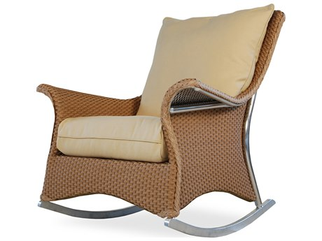 Lloyd Flanders Mandalay Wicker Rocking Lounge Chair
