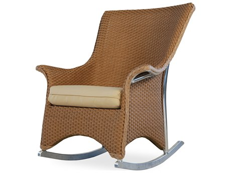 Lloyd Flanders Mandalay Wicker Rocker Lounge Chair