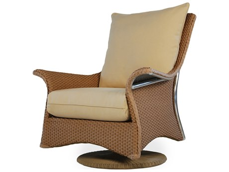 Lloyd Flanders Mandalay Wicker Swivel Rocker Lounge Chair
