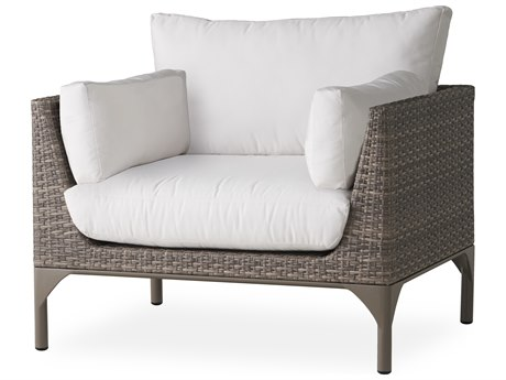 Lloyd Flanders Martinique Granite Wicker Lounge Chair PatioLiving