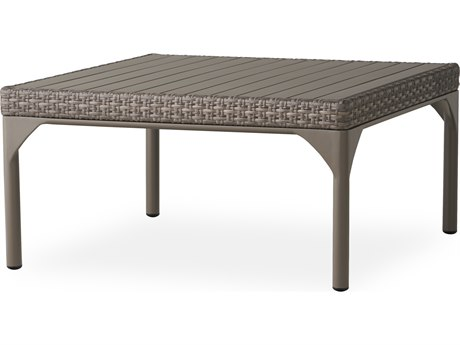 Lloyd Flanders Martinique Granite Wicker 36''Wide Square Coffee Table PatioLiving