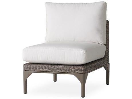 Lloyd Flanders Martinique Granite Wicker Modular Lounge Chair