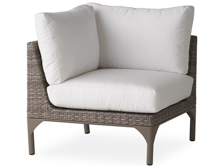 Lloyd Flanders Martinique Granite Wicker Corner Lounge Chair