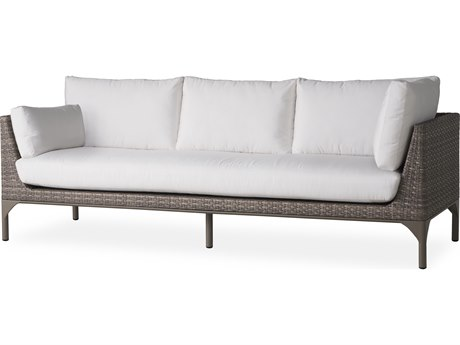 Lloyd Flanders Martinique Granite Wicker Sectional Sofa PatioLiving