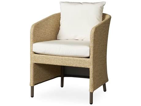 Lloyd Flanders Verona Wheat Texilene Wicker Dining Armchair LF277001