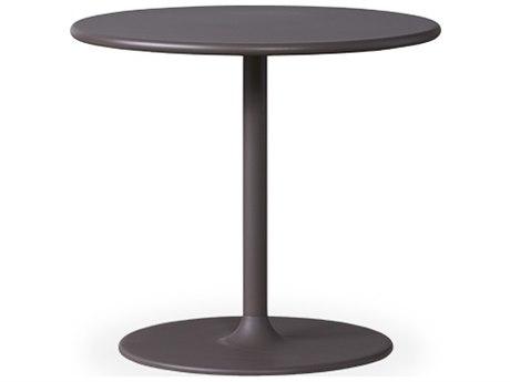 Lloyd Flanders Verona Taupe Aluminum 23.5''Wide Round End Table