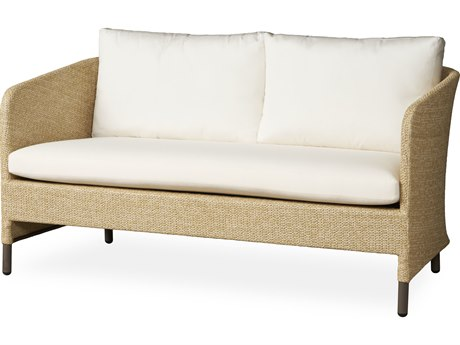 Lloyd Flanders Verona Wheat Texilene Wicker Loveseat PatioLiving