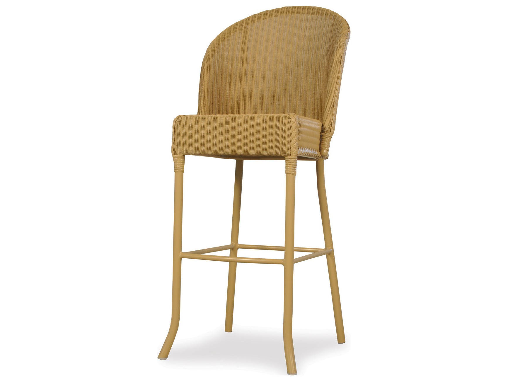 lloyd flanders dining accessories wicker round back bar stool lf286007. Black Bedroom Furniture Sets. Home Design Ideas