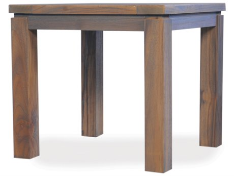 Lloyd Flanders Teak 24'' Square End Table
