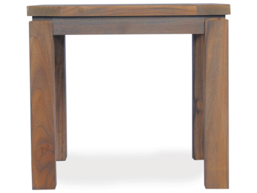 lloyd flanders teak 24 39 39 square end table 286043. Black Bedroom Furniture Sets. Home Design Ideas