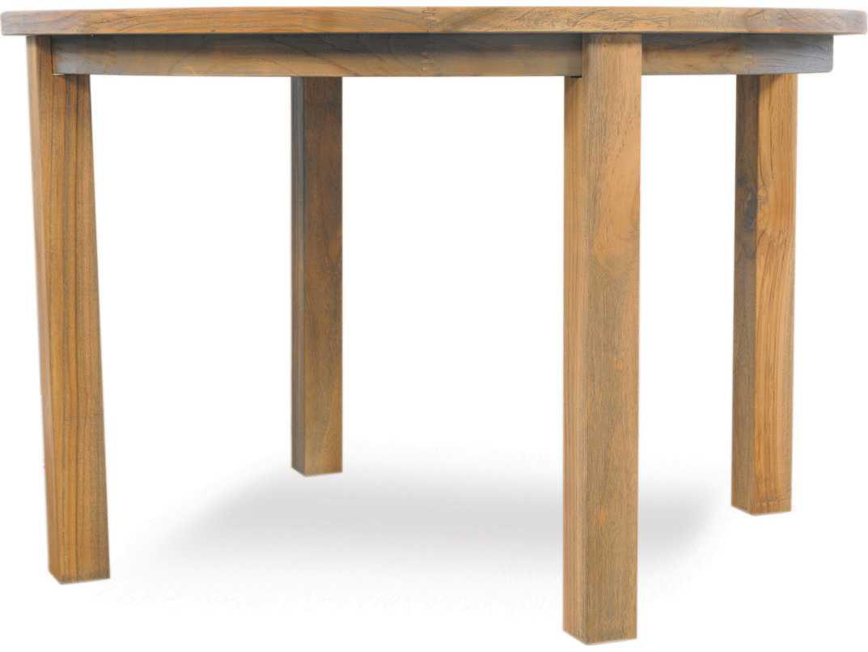 Lloyd Flanders Teak 48 Round Umbrella Table Lf286048