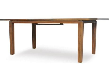 Lloyd Flanders Teak 63'' x 35.5'' Rectangular Butterfly Leaf Dining Table
