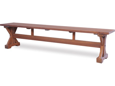 Lloyd Flanders Teak Tables 78'' Rectangular Trestle Bench LF286127
