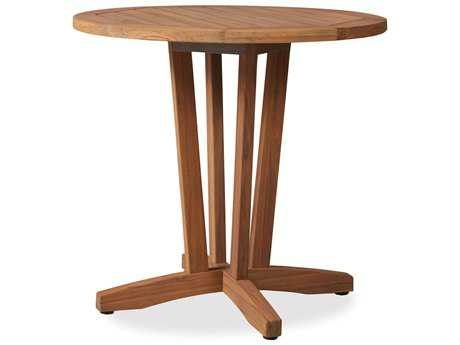 Lloyd Flanders Teak 30 Round Bistro Table