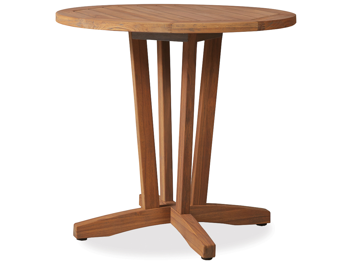 Lloyd Flanders Teak 30 Round Bistro Table 286136