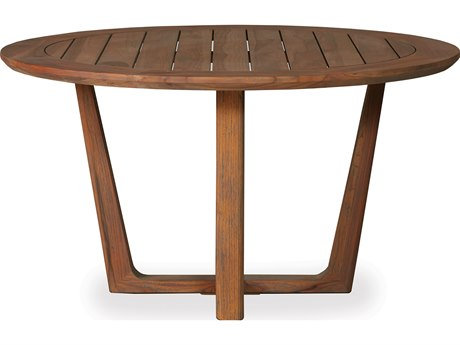 Lloyd Flanders Teak 54 Round Dining Table
