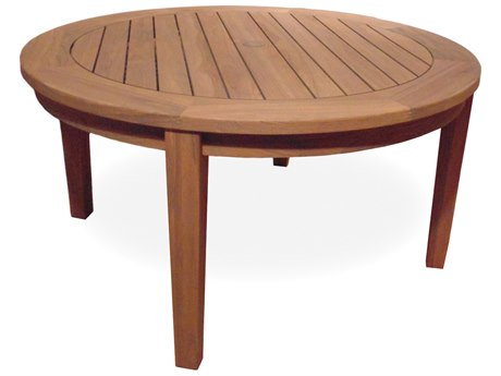 Lloyd Flanders Teak 48'' Round Tapered Leg Conversation Table