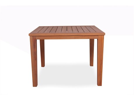 Lloyd Flanders Teak 39.5'' Square Tapered Leg Dining Table