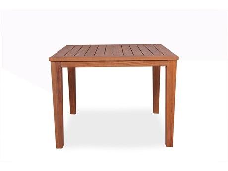 Lloyd Flanders Teak 39''Wide Square Tapered Leg Dining Table