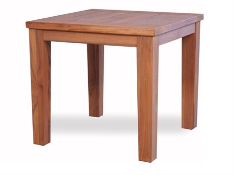 Lloyd Flanders Teak 23.5'' Square Tapered Leg End Table